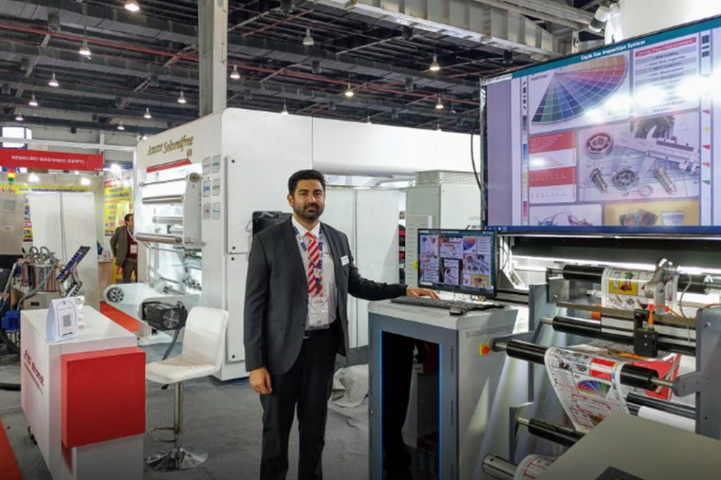 Khushal Patel with EagleEye 100% Inspection & Viewing System